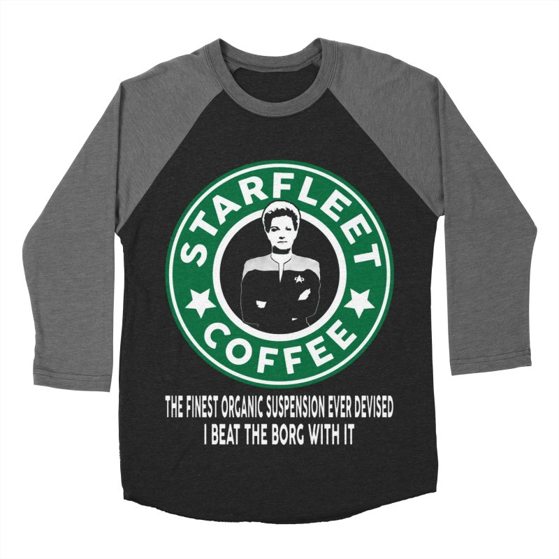Kathryn Janeway's Starfleet Coffee Women's Baseball Triblend T-Shirt by khurst's Artist Shop