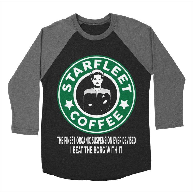 Kathryn Janeway's Starfleet Coffee Men's Baseball Triblend T-Shirt by khurst's Artist Shop