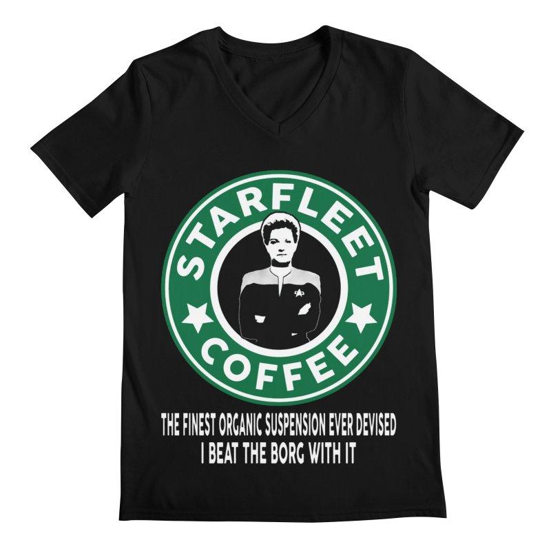 Kathryn Janeway's Starfleet Coffee Men's V-Neck by khurst's Artist Shop