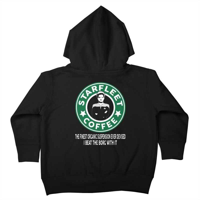 Kathryn Janeway's Starfleet Coffee Kids Toddler Zip-Up Hoody by khurst's Artist Shop