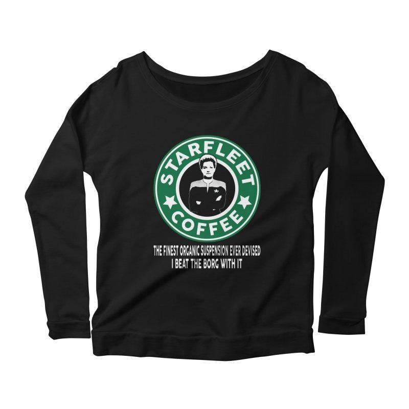 Kathryn Janeway's Starfleet Coffee Women's Longsleeve Scoopneck  by khurst's Artist Shop