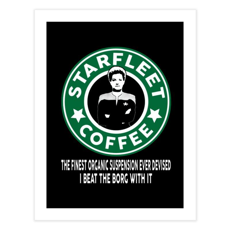 Kathryn Janeway's Starfleet Coffee Home Fine Art Print by khurst's Artist Shop