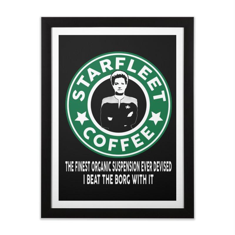 Kathryn Janeway's Starfleet Coffee Home Framed Fine Art Print by khurst's Artist Shop