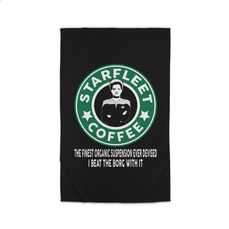 Kathryn Janeway's Starfleet Coffee Home Rug by khurst's Artist Shop