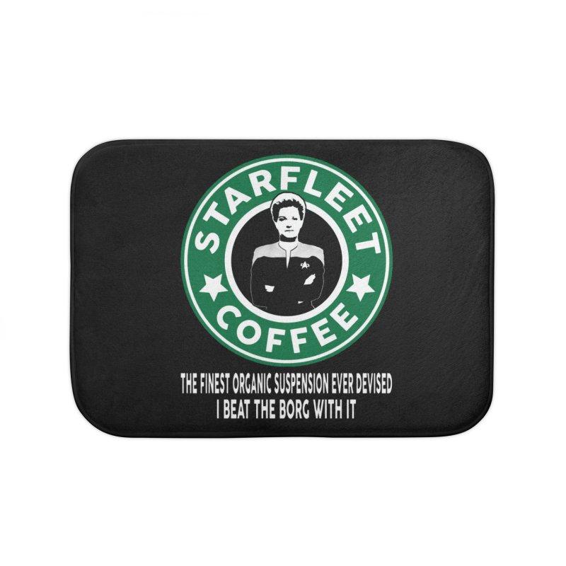 Kathryn Janeway's Starfleet Coffee Home Bath Mat by khurst's Artist Shop