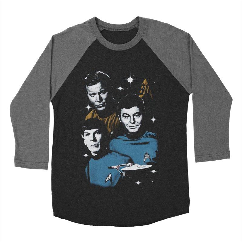 Star Trek - The Terrible Trio Men's Baseball Triblend T-Shirt by khurst's Artist Shop