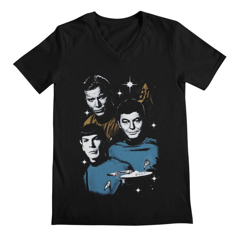 Star Trek - The Terrible Trio Men's V-Neck by khurst's Artist Shop