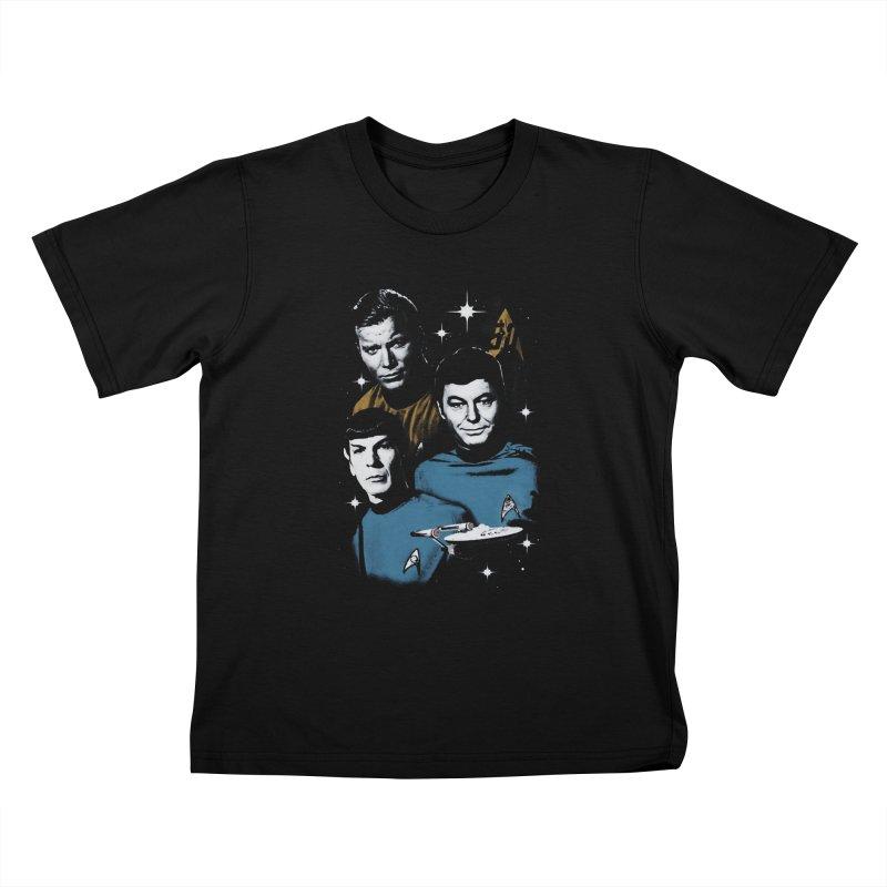 Star Trek - The Terrible Trio Kids T-shirt by khurst's Artist Shop