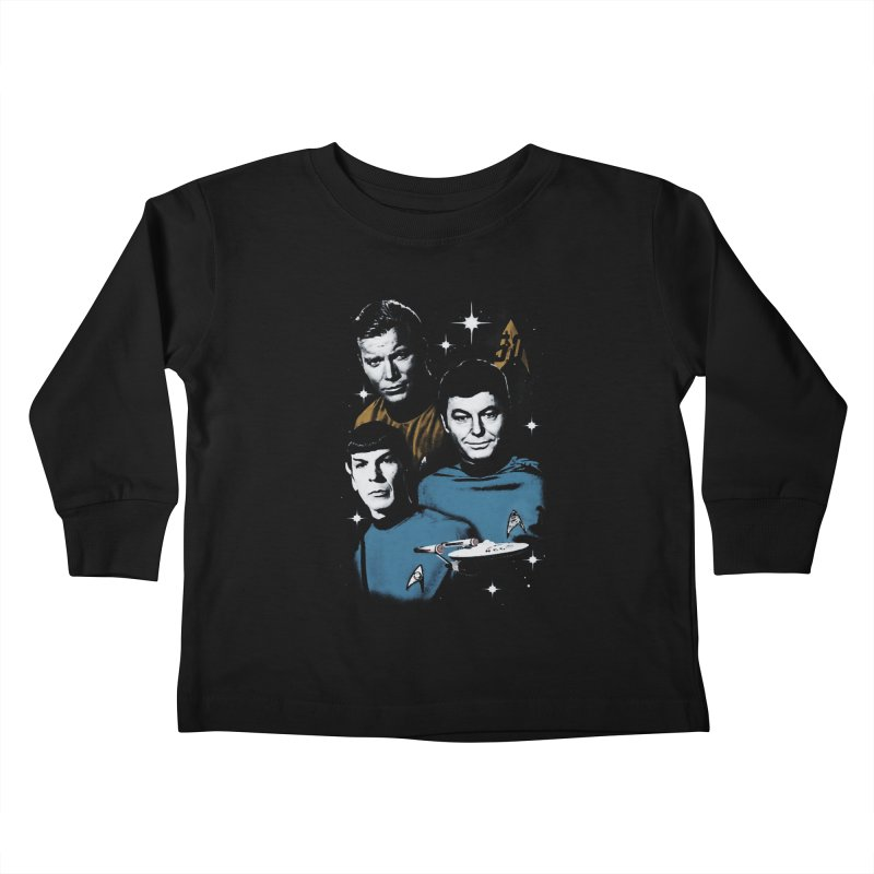 Star Trek - The Terrible Trio Kids Toddler Longsleeve T-Shirt by khurst's Artist Shop