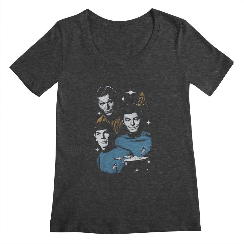 Star Trek - The Terrible Trio Women's Scoopneck by khurst's Artist Shop