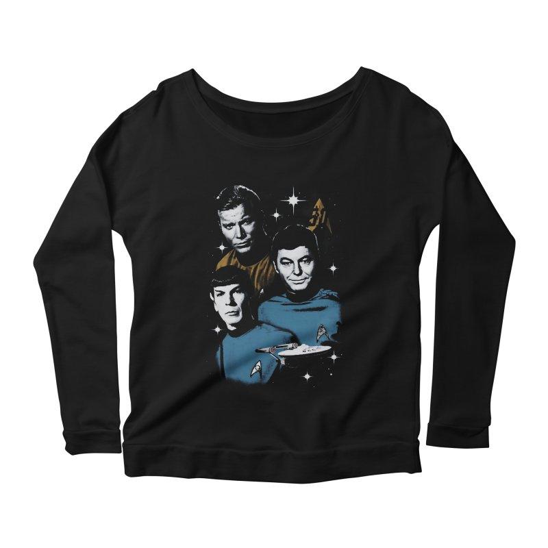 Star Trek - The Terrible Trio Women's Longsleeve Scoopneck  by khurst's Artist Shop