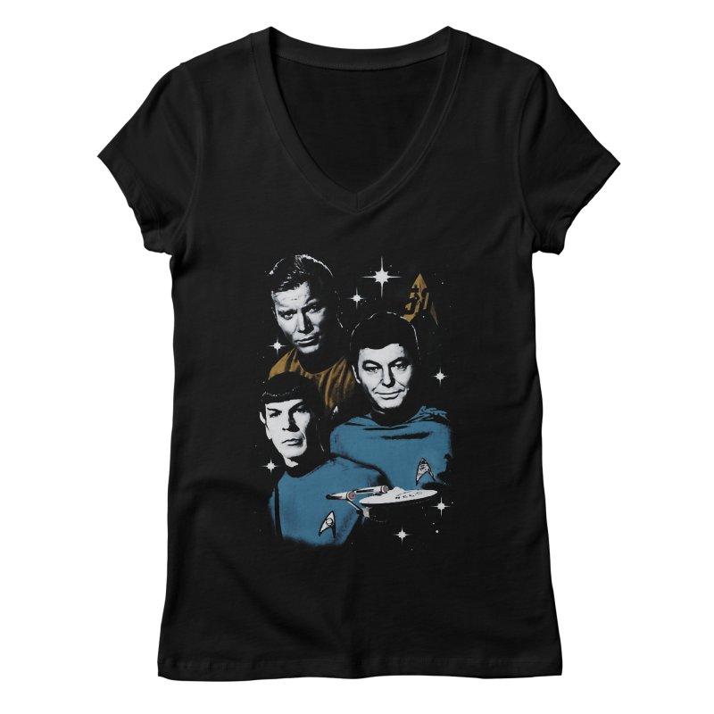 Star Trek - The Terrible Trio Women's V-Neck by khurst's Artist Shop