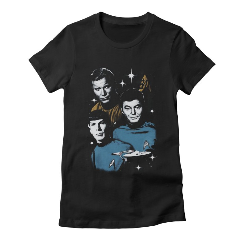 Star Trek - The Terrible Trio Women's Fitted T-Shirt by khurst's Artist Shop