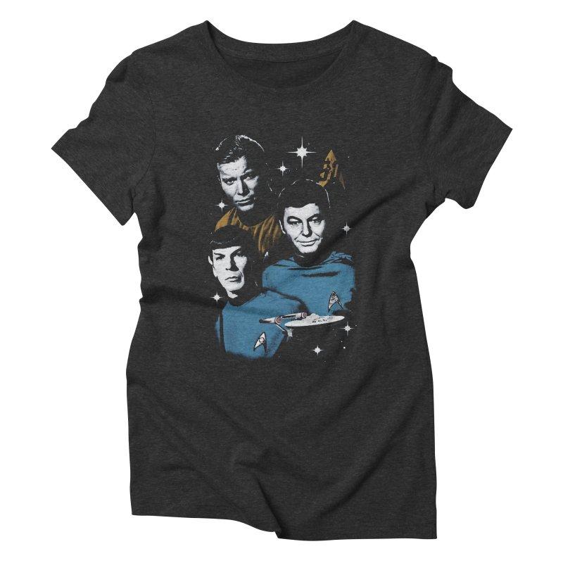 Star Trek - The Terrible Trio Women's Triblend T-shirt by khurst's Artist Shop