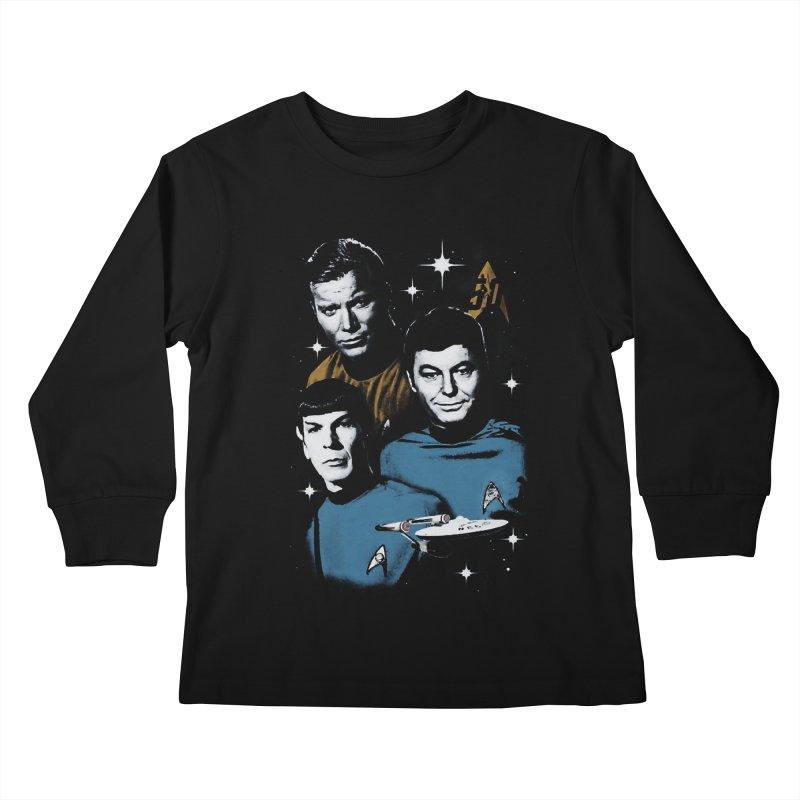 Star Trek - The Terrible Trio Kids Longsleeve T-Shirt by khurst's Artist Shop