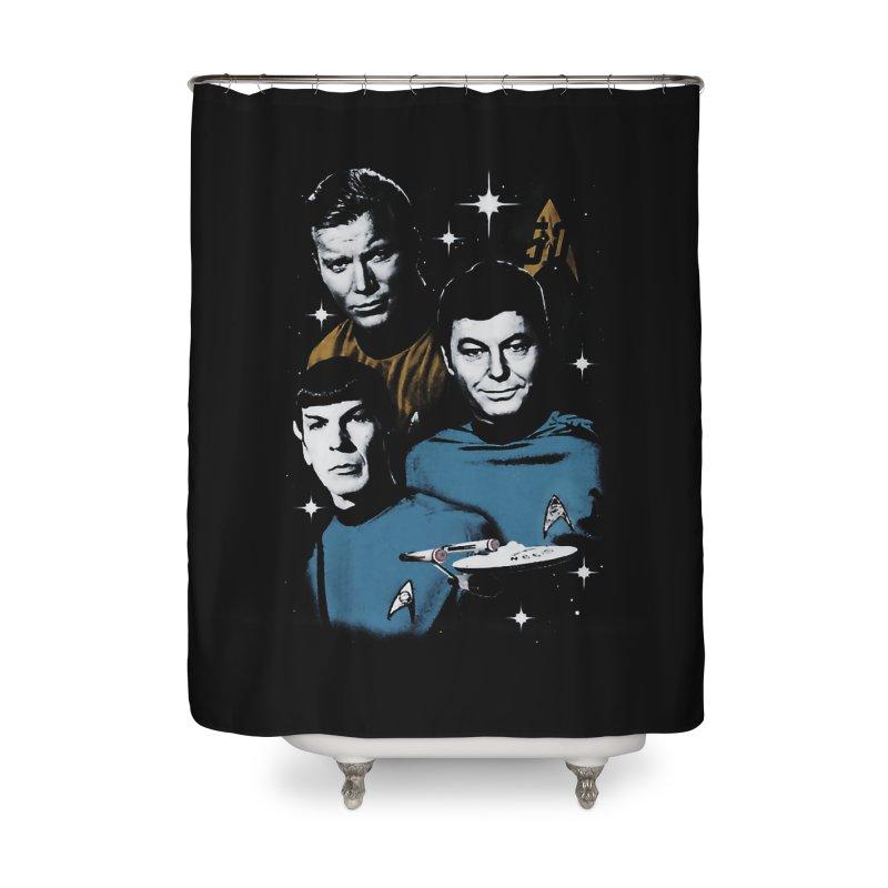 Star Trek - The Terrible Trio Home Shower Curtain by khurst's Artist Shop