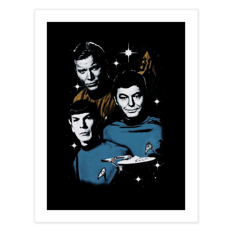 Star Trek - The Terrible Trio Home Fine Art Print by khurst's Artist Shop