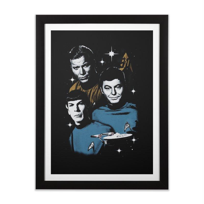 Star Trek - The Terrible Trio Home Framed Fine Art Print by khurst's Artist Shop
