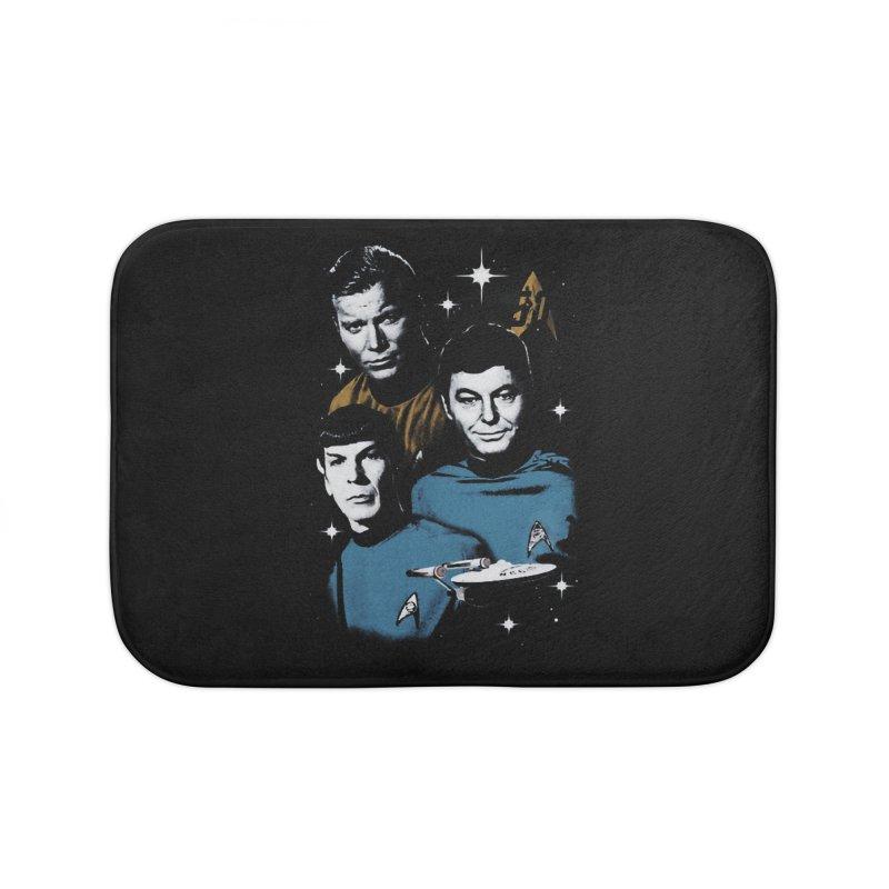 Star Trek - The Terrible Trio Home Bath Mat by khurst's Artist Shop