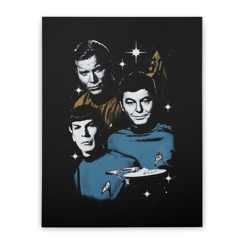 Star Trek - The Terrible Trio Home Stretched Canvas by khurst's Artist Shop