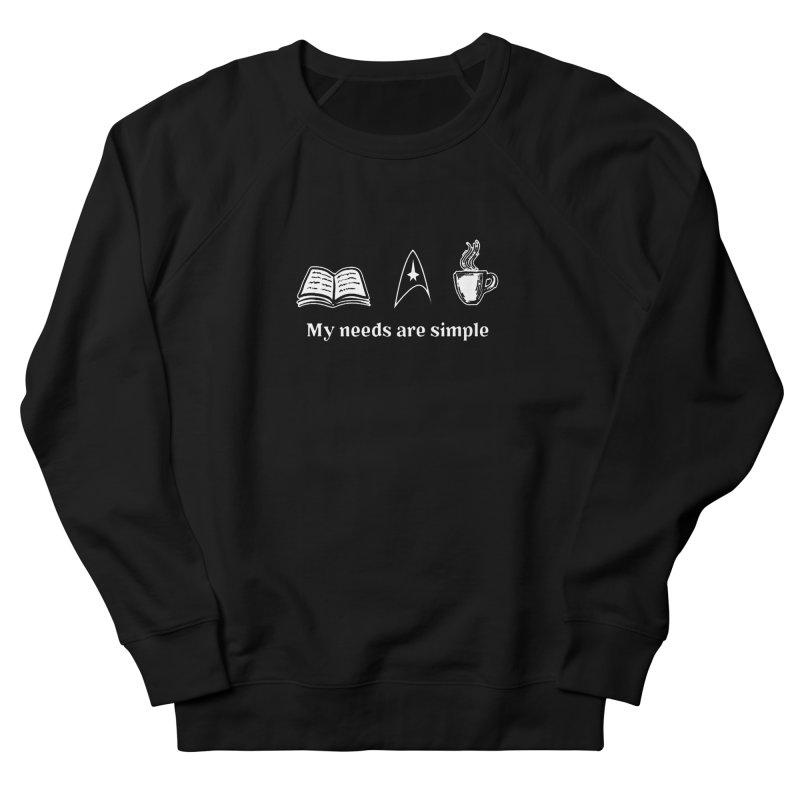 Simple Needs Men's Sweatshirt by khurst's Artist Shop