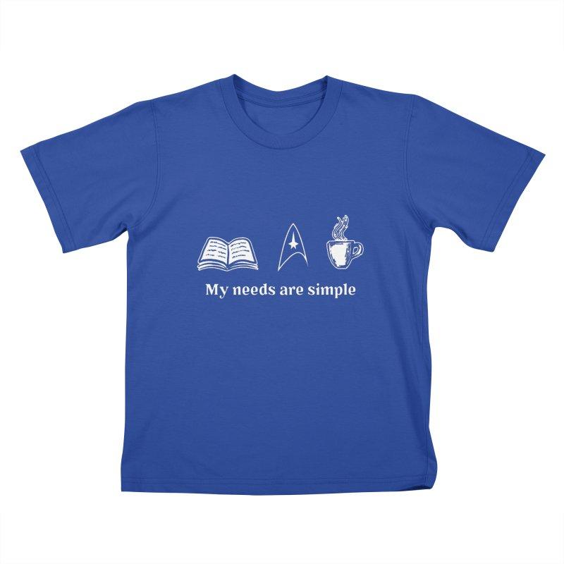 Simple Needs Kids T-shirt by khurst's Artist Shop