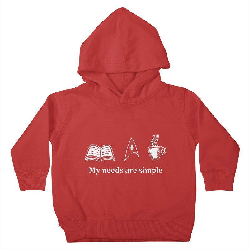 Simple Needs Kids Toddler Pullover Hoody by khurst's Artist Shop