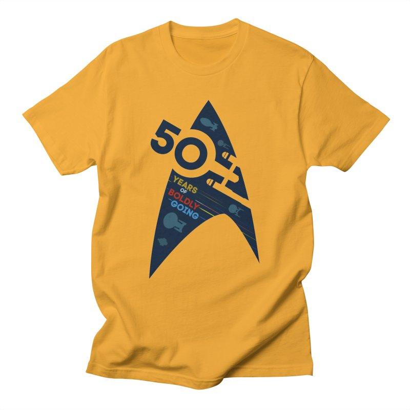 50 Years of Boldly Going Men's T-shirt by khurst's Artist Shop