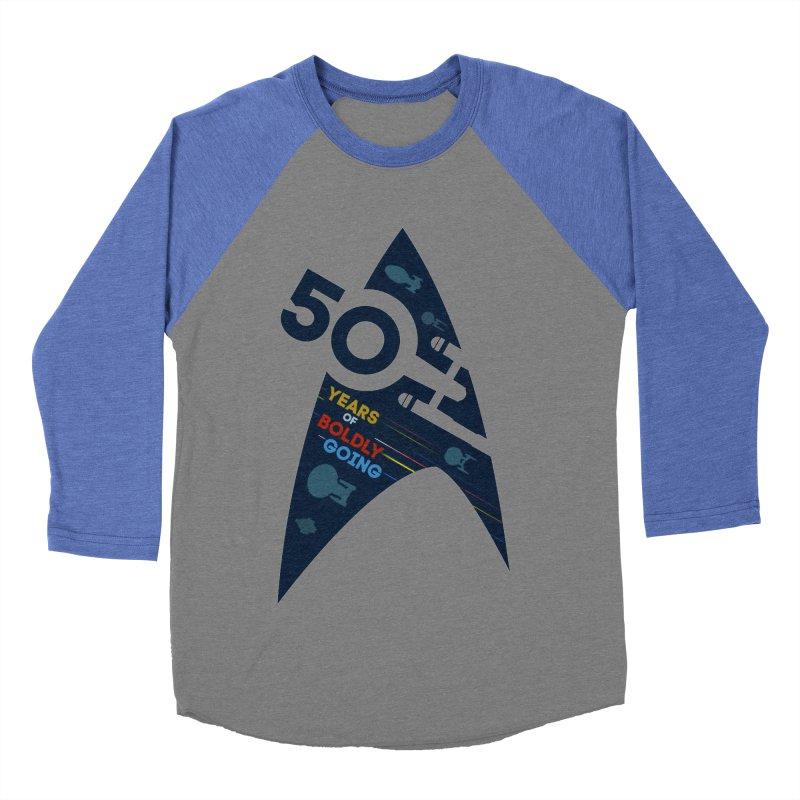 50 Years of Boldly Going Men's Baseball Triblend T-Shirt by khurst's Artist Shop