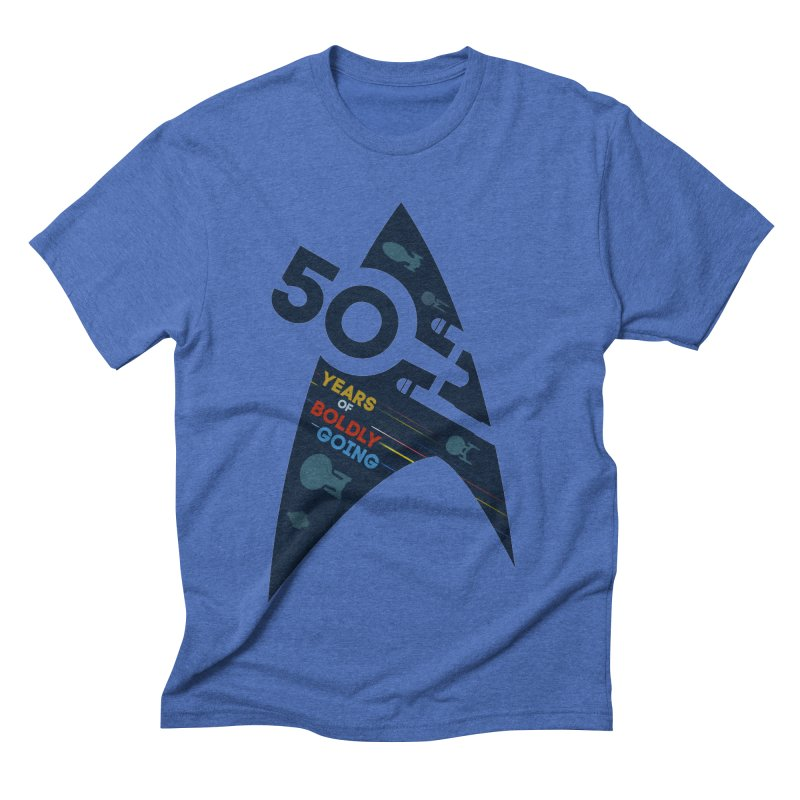 50 Years of Boldly Going Men's Triblend T-shirt by khurst's Artist Shop