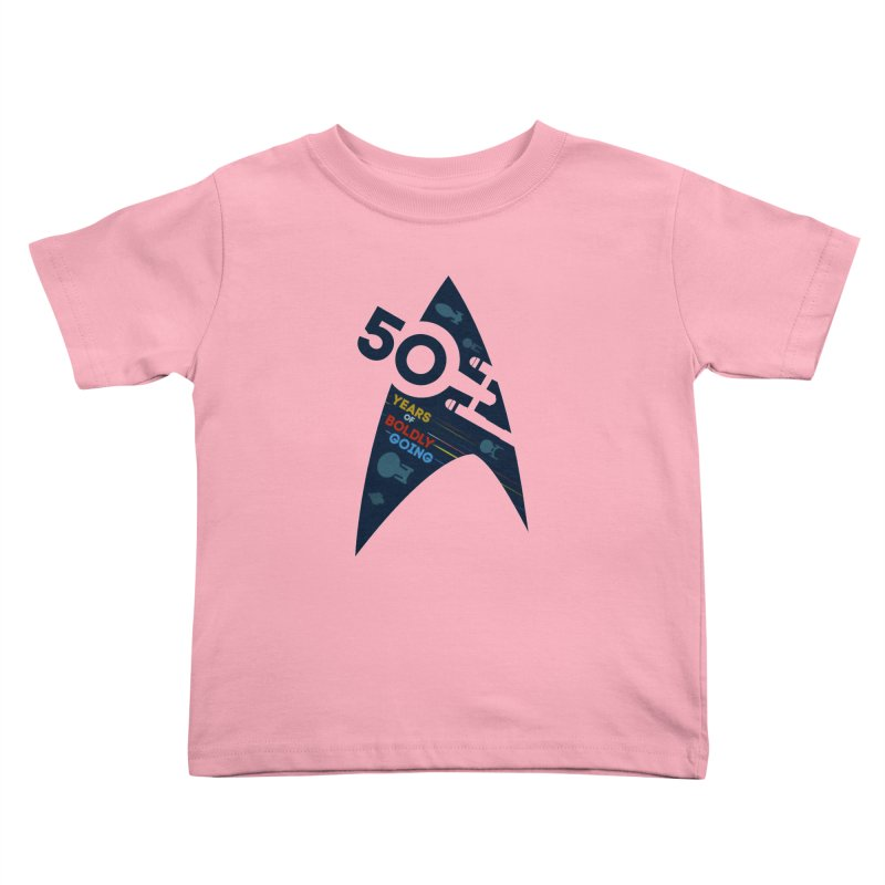50 Years of Boldly Going Kids Toddler T-Shirt by khurst's Artist Shop