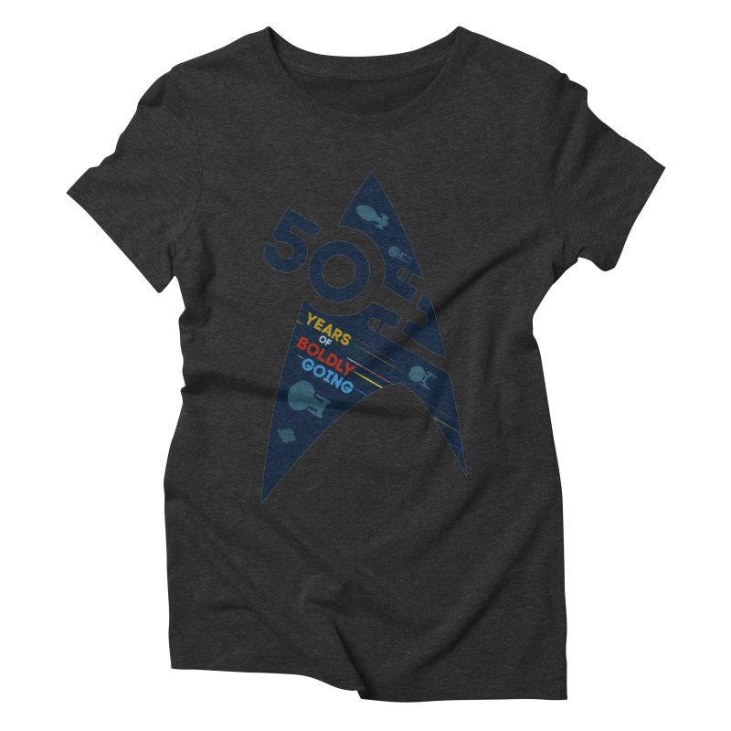 50 Years of Boldly Going Women's Triblend T-shirt by khurst's Artist Shop