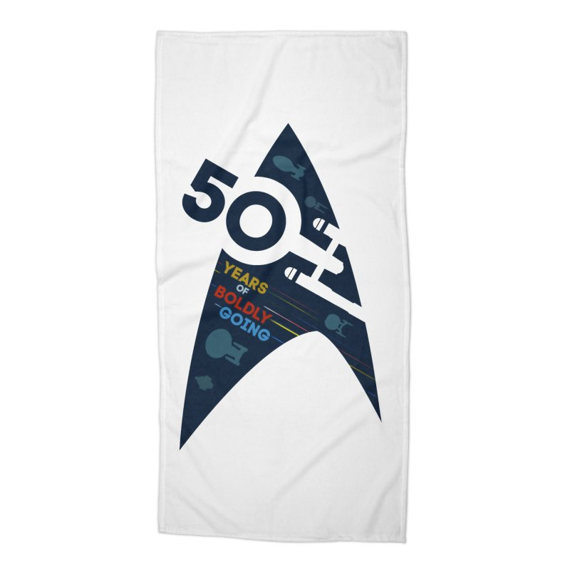50 Years of Boldly Going Accessories Beach Towel by khurst's Artist Shop