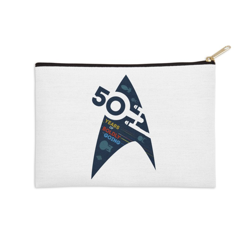 50 Years of Boldly Going Accessories Zip Pouch by khurst's Artist Shop