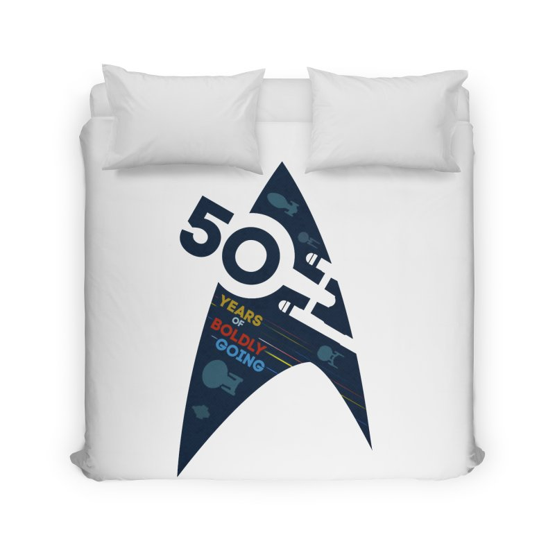 50 Years of Boldly Going Home Duvet by khurst's Artist Shop