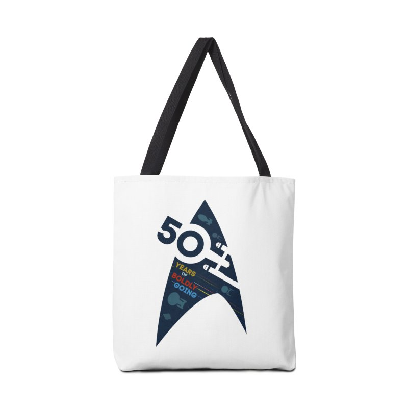 50 Years of Boldly Going Accessories Bag by khurst's Artist Shop
