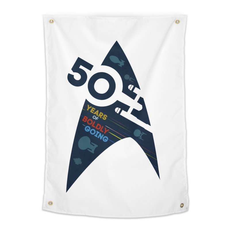 50 Years of Boldly Going Home Tapestry by khurst's Artist Shop