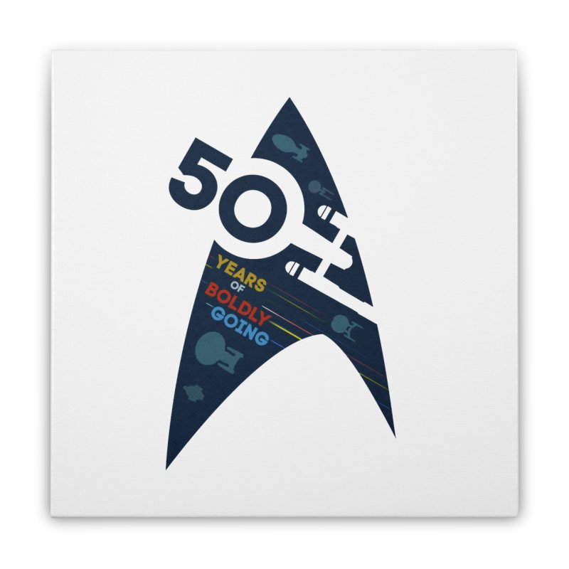 50 Years of Boldly Going Home Stretched Canvas by khurst's Artist Shop