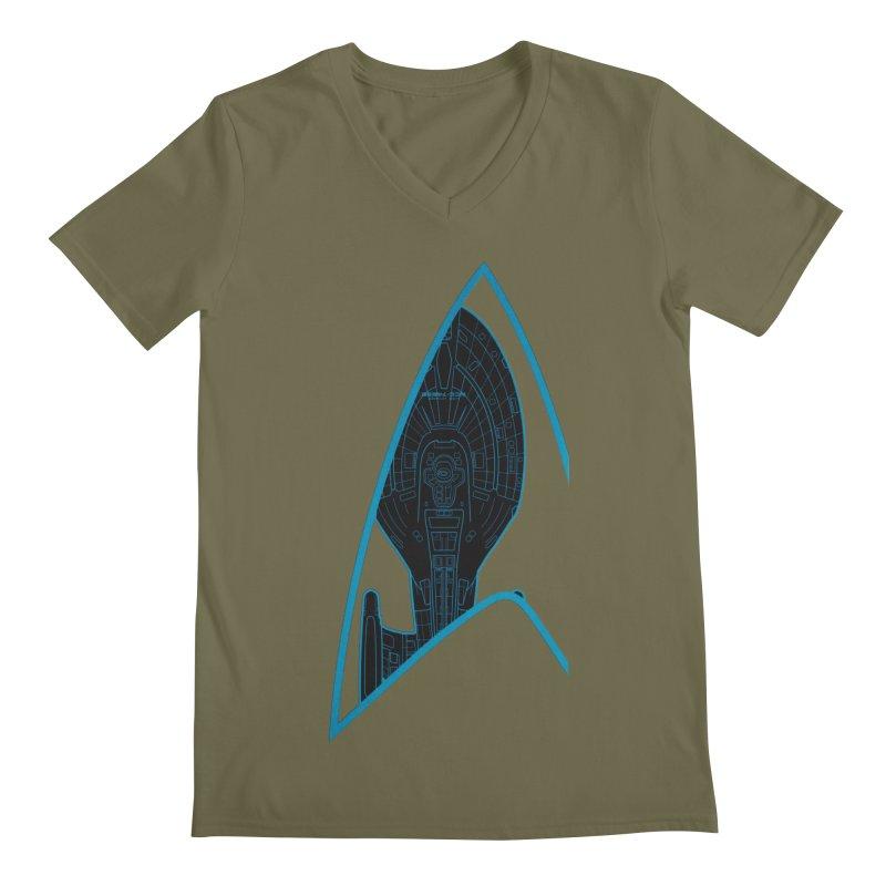 Voyager Delta Men's V-Neck by khurst's Artist Shop