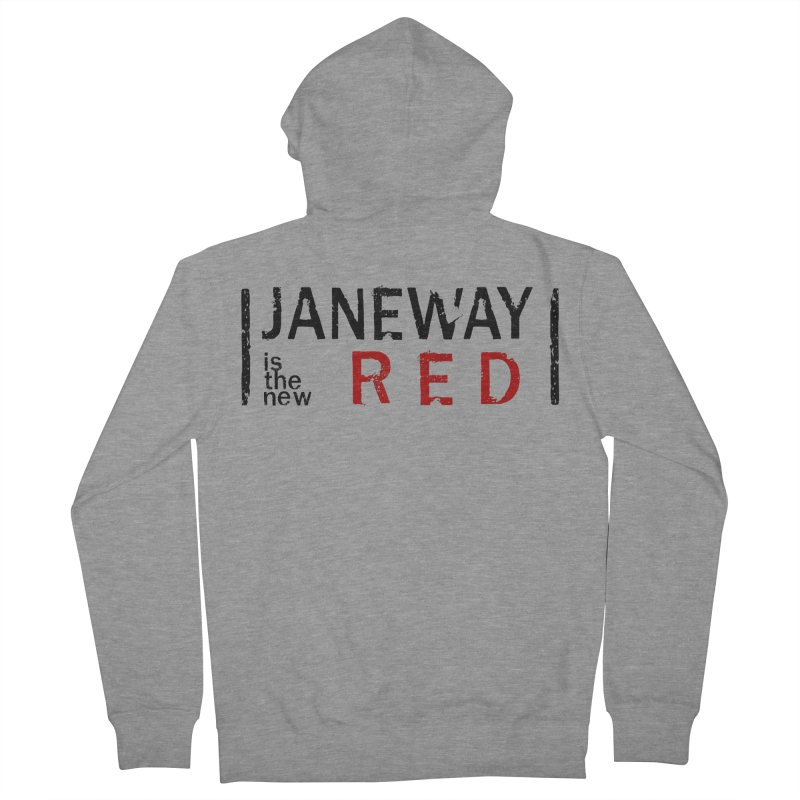 Janeway is the new Red Women's Zip-Up Hoody by khurst's Artist Shop