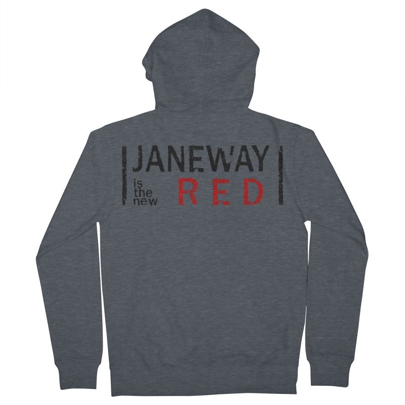 Janeway is the new Red Men's Zip-Up Hoody by khurst's Artist Shop