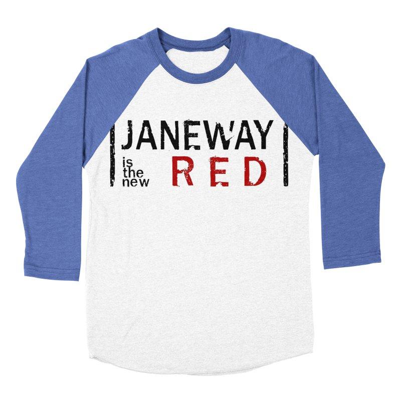 Janeway is the new Red Men's Baseball Triblend T-Shirt by khurst's Artist Shop