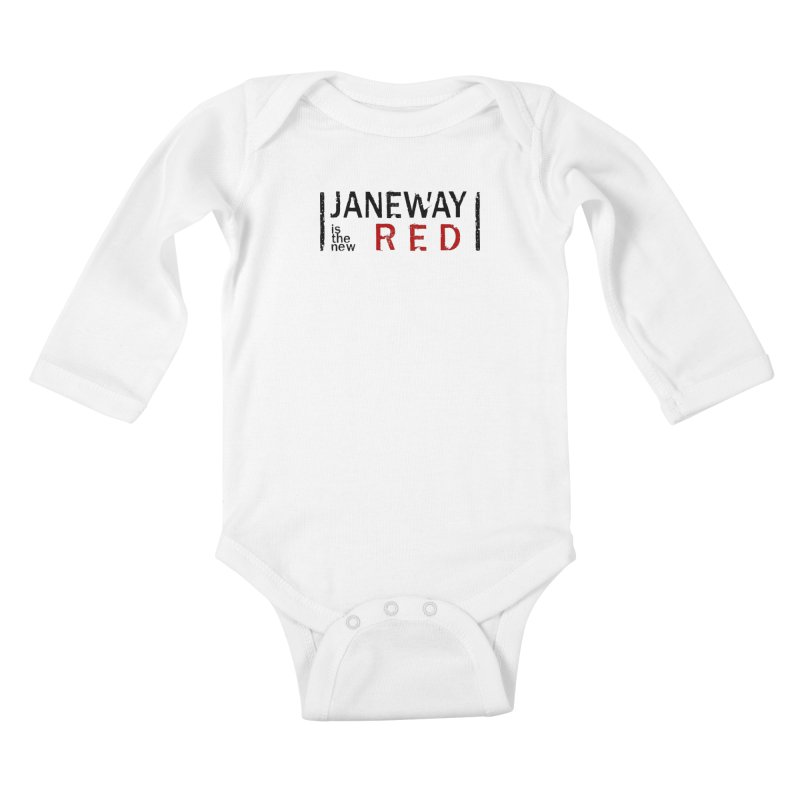 Janeway is the new Red Kids Baby Longsleeve Bodysuit by To Boldly Merch