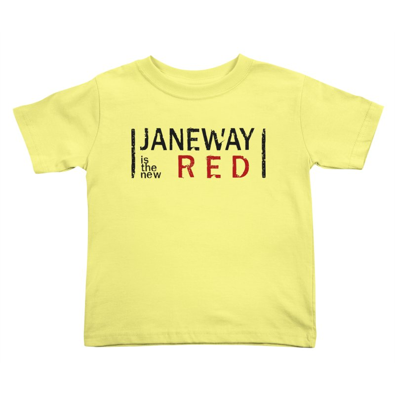 Janeway is the new Red Kids Toddler T-Shirt by khurst's Artist Shop