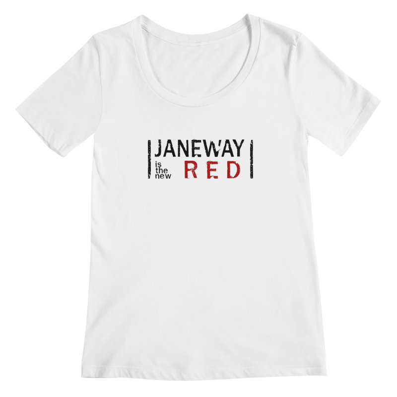 Janeway is the new Red Women's Scoopneck by khurst's Artist Shop