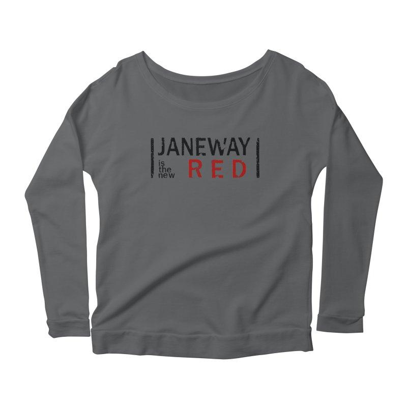 Janeway is the new Red Women's Longsleeve Scoopneck  by khurst's Artist Shop