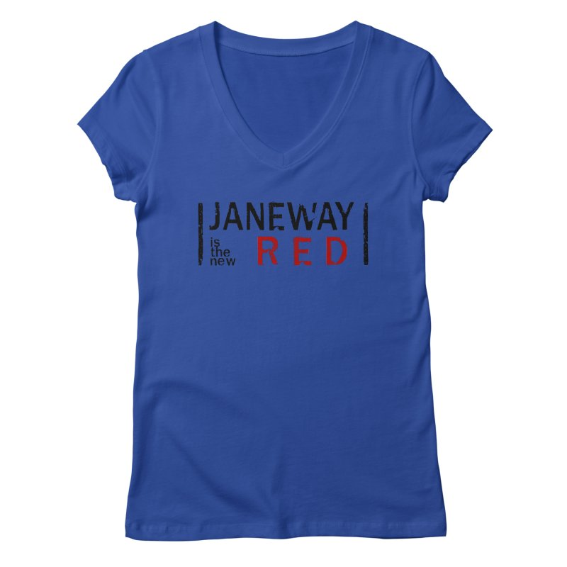 Janeway is the new Red Women's V-Neck by To Boldly Merch