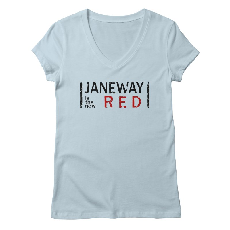 Janeway is the new Red Women's V-Neck by khurst's Artist Shop