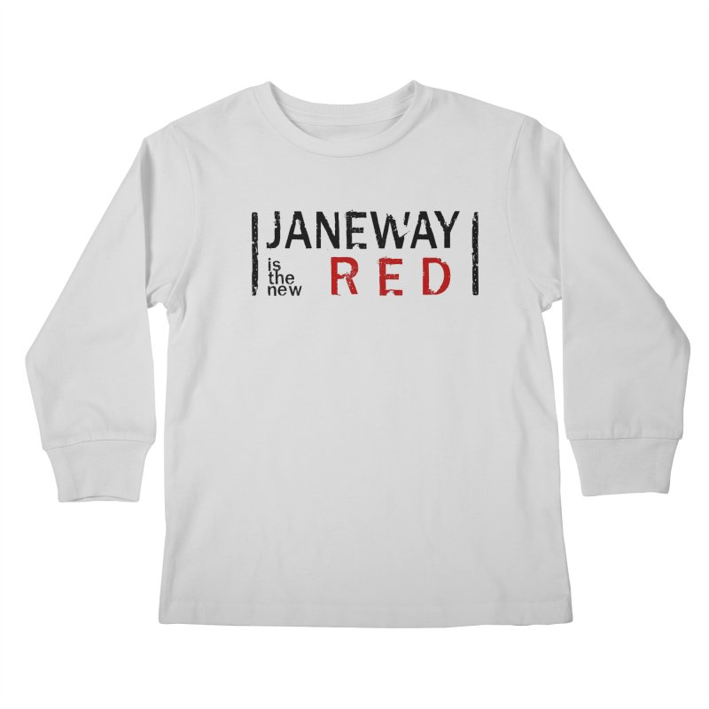 Janeway is the new Red Kids Longsleeve T-Shirt by To Boldly Merch
