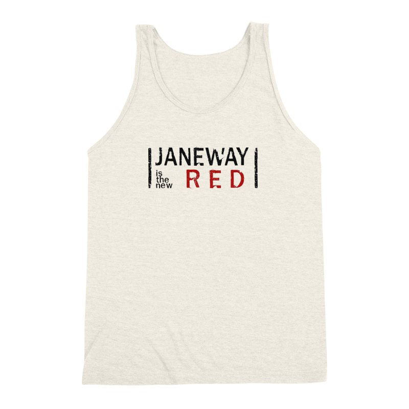 Janeway is the new Red Men's Triblend Tank by khurst's Artist Shop